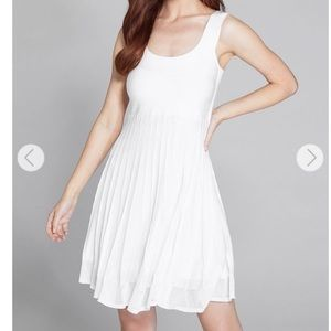 NEW Guess Marciano white pleated knit mini dress
